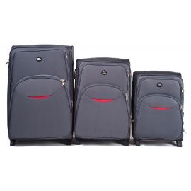 Set Trolere Extensibile WINGS EAGLE 2 Roti 3 Piese Gri
